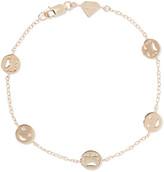 Alison Lou Happy/ Sad By The Yard 14-karat Gold Diamond Bracelet - one size