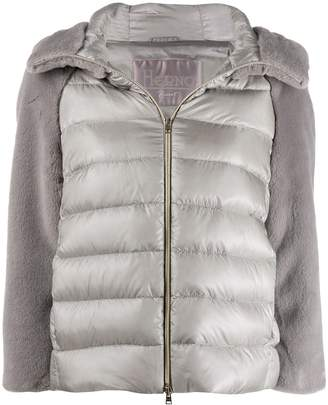 Herno contrasting sleeve puffer jacket