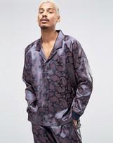 Asos Satin Pajama Top In Paisley Print