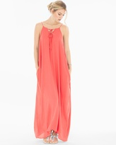 Soma Intimates Lace Up Neck Cover Up Maxi Dress