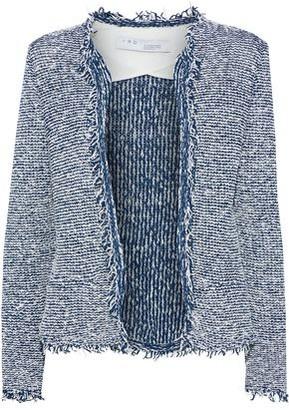 IRO Azure Frayed Cotton-blend Boucle-tweed Jacket