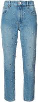 Etoile Isabel Marant stud embellished straight jeans - women - Cotton/Zamak - 36