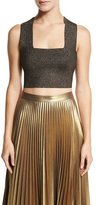 A.L.C. Ali Metallic Crop Top, Bronze
