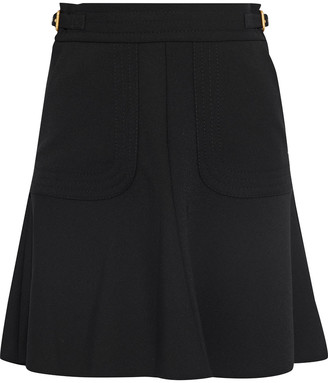 RED Valentino Flared Buckled Stretch-twill Mini Skirt