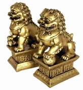 LG Electronics Hong Tze Collection-Brass Color Beijing Foo Dogs