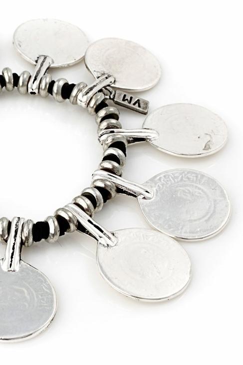 Vanessa Mooney La Vida Boheme Bracelet in Silver/Black