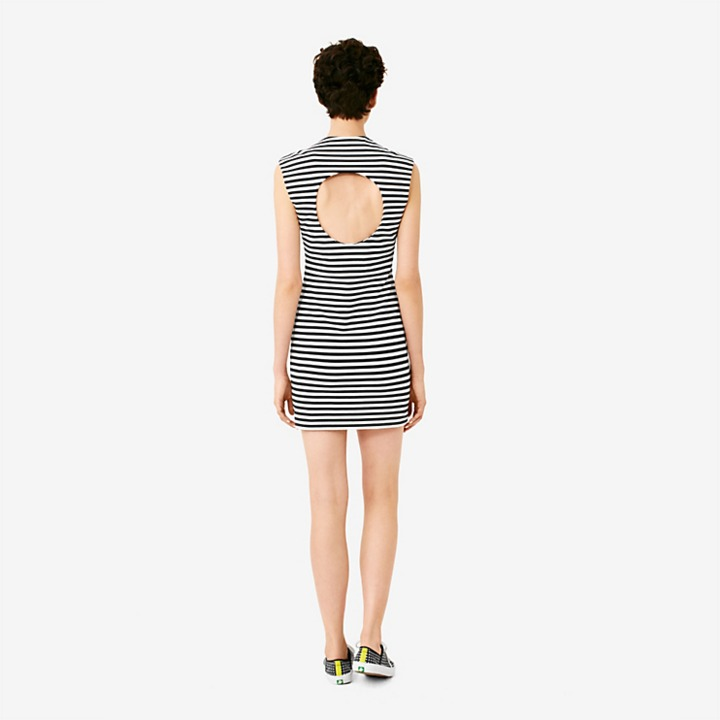 Kate Spade Saturday Circle-Back Slimster Ponte Dress in Stripe