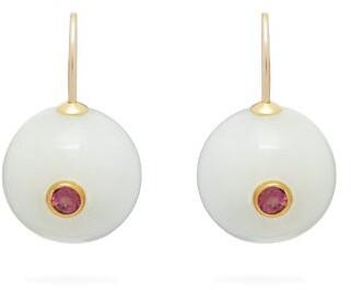 Lizzie Fortunato Comet Tourmaline Earrings - Womens - White