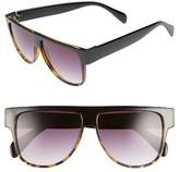 BP Women's 60Mm Ombre Shield Sunglasses - Burgundy