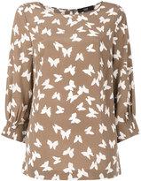 Steffen Schraut butterflies print blouse - women - Silk/Spandex/Elastane - 36