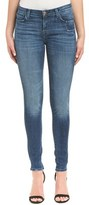 J Brand Blue Washed Stretch Distressed Super Skinny Leg.