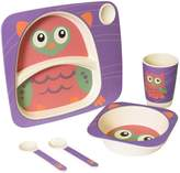 Safety 1st 49830COWL1PK Bamboo 5 piece Feeding Set - Owl