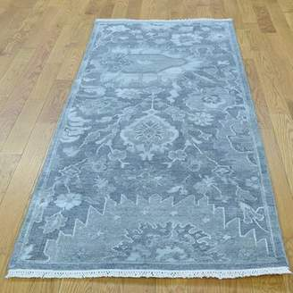 """Blue Area Isabelline One-of-a-Kind Corentin Hand-Knotted Runner 2'5"""" x 6'3"""" Wool/Silk Rug Isabelline"""