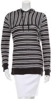 Alexander Wang Striped Hooded Top
