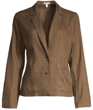 Eileen Fisher Shaped-Fit Organic Linen Blazer