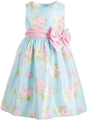 Good Lad Little Girls Floral Shantung Dress