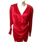 Balmain Red Silk Dress