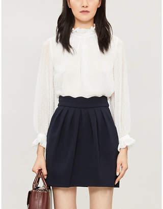 Claudie Pierlot Victorian collar satin shirt