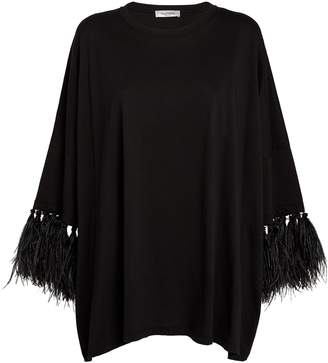 Valentino Ostrich Feather T-Shirt