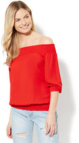 New York & Co. Smocked Off-The-Shoulder Blouse