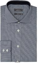 John Lewis Non Iron Regular Fit Fine Gingham Shirt, Navy