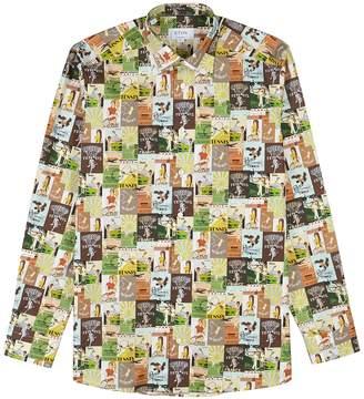 Eton Printed Contemporary Cotton Shirt