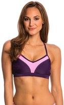 Champion Women's Solid Shape Up VNeck Colorblocked Sports Bra - 8137201