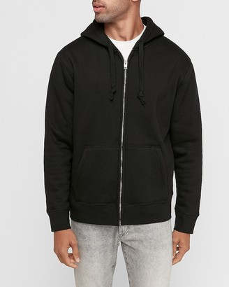 Express Sherpa Lined Zip Front Hoodie