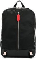 Neil Barrett zipper buckle backpack - men - Leather/Nylon/Polyester - One Size