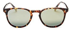 Oliver Peoples Men's Polarized Finley Esq. Mirrored Sunglasses, 51mm