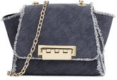 Zac Posen Eartha Iconic Mini Denim Crossbody Bag