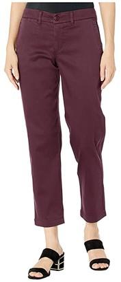 Liverpool Bobbie Trousers w/ Slash Pockets (Cocoa Burgundy) Women's Casual Pants