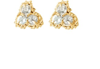 Lily Flo Jewellery Diamond Large Cluster Earrings set in Solid Gold Kaia