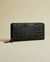 Ted Baker Exotic Leather Zip Charm Matinee Purse
