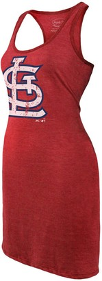 Majestic Women's Threads Red St. Louis Cardinals Tri-Blend Racerback Sleeveless Dress
