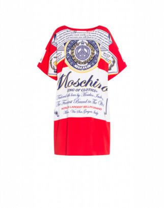 Moschino Budweiser Dress Woman Red Size 38 It - (4 Us)