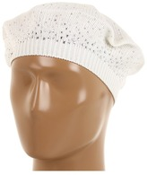 Calvin Klein Ombre Studded Beret (Creme) - Hats
