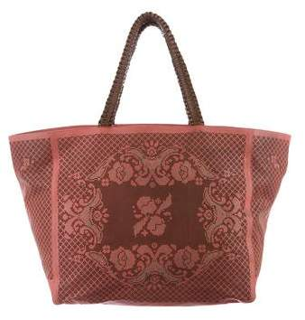 Nada Sawaya Laser Cut Leather Tote