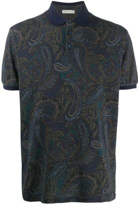 Etro Paisley Print Cotton Polo Shirt