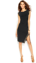 MICHAEL Michael Kors Stud-Trim Side-Slit Dress