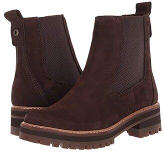 Timberland Courmayeur Valley Chelsea (Dark Brown Nubuck) Women's Pull-on Boots