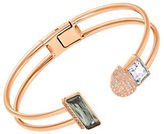 Swarovski Crystal and Rose Gold Slip-On Bangle