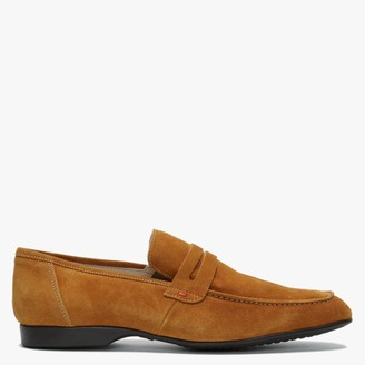 Daniel Rocky 100 Tan Suede Saddle Loafers
