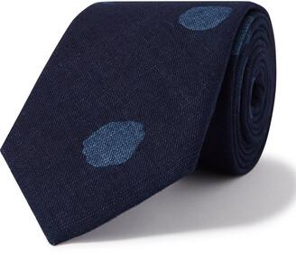 Blue Blue Japan 8cm Bassen Indigo-Dyed Cotton Tie