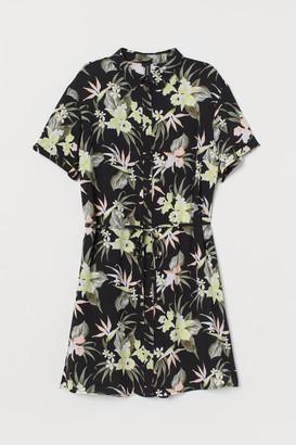 H&M Short Shirt Dress - Black