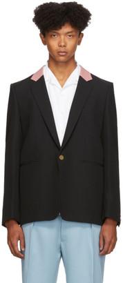 Paul Smith Black Contrast Collar Single-Button Blazer