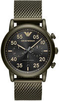 Emporio Armani Men's Green Stainless Steel Mesh Bracelet Watch 43mm