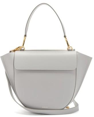 Wandler Hortensia Medium Leather Cross-body Bag - Light Grey