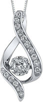 Sirena FINE JEWELRY 3/8 CT. Diamond 14K White Gold Infinity Pendant Necklace