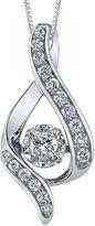 Sirena FINE JEWELRY 3/8 CT. Diamond 14K White Gold Infinity Pendant Necklace